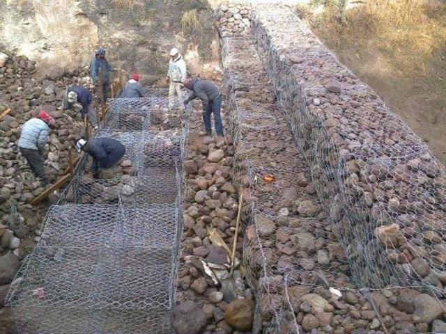 Gavi n arquitectonico para muros de piedra 2m x 1m x 1m for Gaviones de piedra