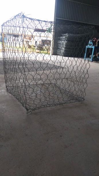 Gaviones de malla de alambre galvanizado triple torsion - Malla alambre galvanizado ...