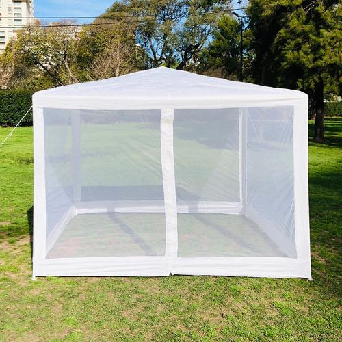 gazebo 3x3 impermeable 4 p mosquitero ideal jardin