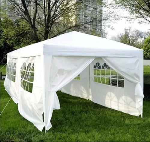 gazebo 6x3mts con puerta y ventanas impermeable ideal evento--18 cuotas sin interes