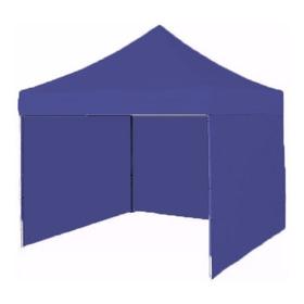 Gazebo Azul Plegable Refozado  3x3 Con Paredes Individuales