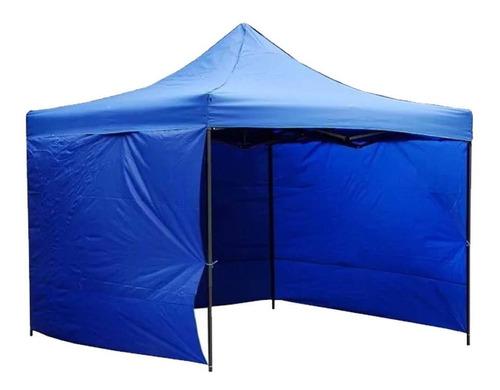 gazebo carpa 3x3 bolso 4 paredes impermeable reforzado azul