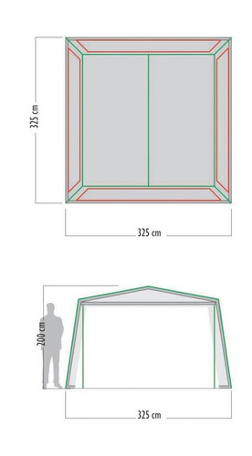 gazebo carpa waterdog 4 paredes con piso 325x325x200
