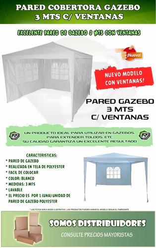 gazebo de rafia 3x3 impermeable 3 paredes ventanas + bolso exahome