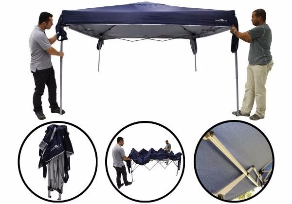5674f61f73bd5 Gazebo Duxx Articulado Tenda Sanfonado Azul Nautika - R  579,00 em Mercado  Livre
