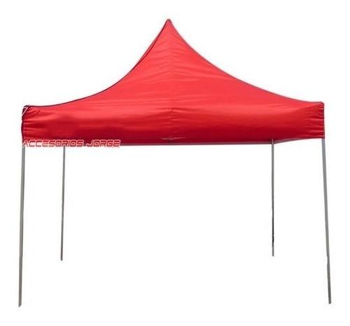 gazebo hierro 3x3 estructural plegable carpa playa camping