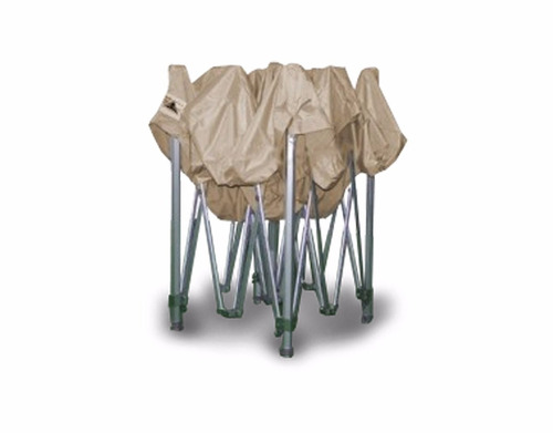 gazebo plegable 3x3 beige facil armado entrega en el dia