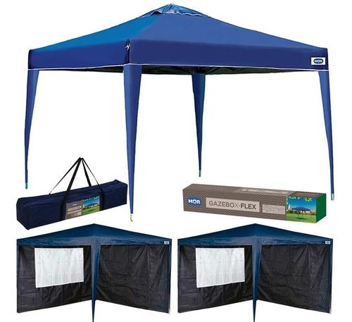 gazebo tenda articulado 3x3 mor sanfonada + 4 paredes