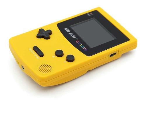 gb boy colour novo com 66 jogos na memória, amarelo. novo.