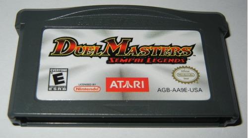 gba: duel masters sempai legends original americano! jogão!
