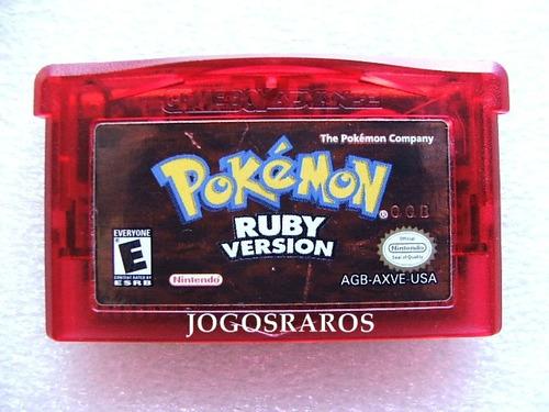 gba: pokemon ruby ou sapphire originais americanos! raridade