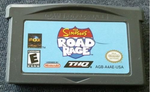 gba: the simpsons road rage original americano!! raríssimo!!