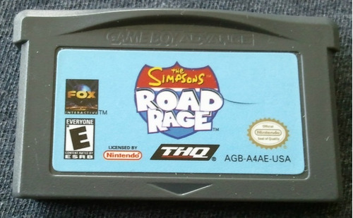 gba: the simpsons road rage original americano!! raríssimo!!