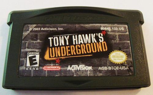 gba: tony hawk's underground + garantia! raríssimo! jogão!