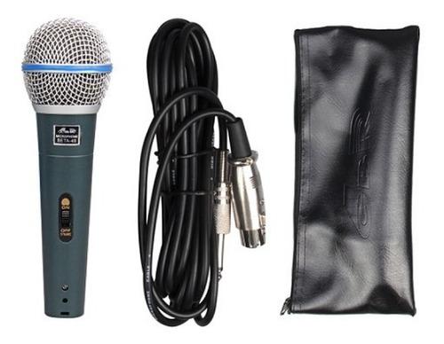 gbr beta49 microfono de mano dinamico con cable y estuche