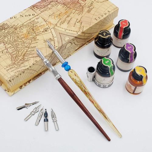 gc caligrafía conjunto de lápiz-5-bote de tinta 100% arte de
