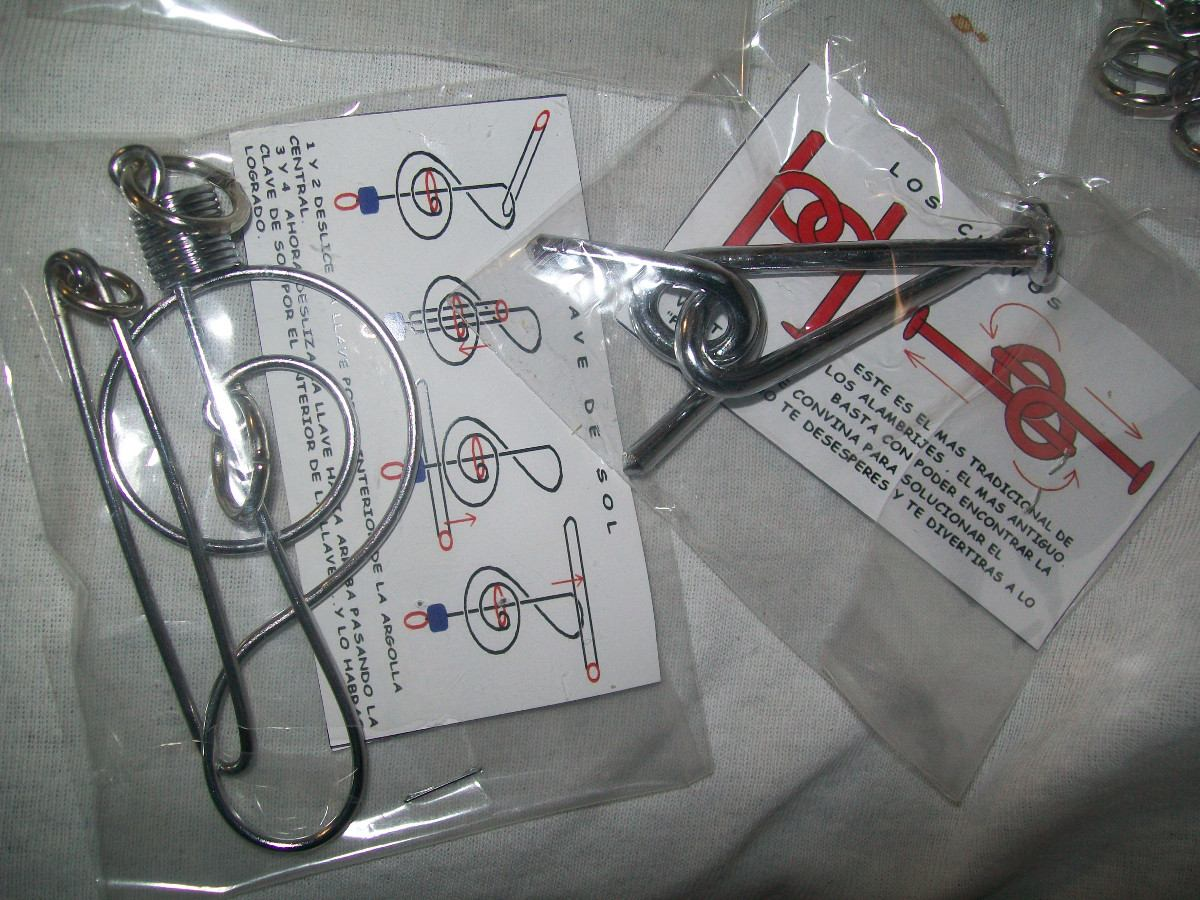 Gcg caja de alambrijes rompecabezas de alambre 10 pzas bbf en mercado libre - Caja rompecabezas ...