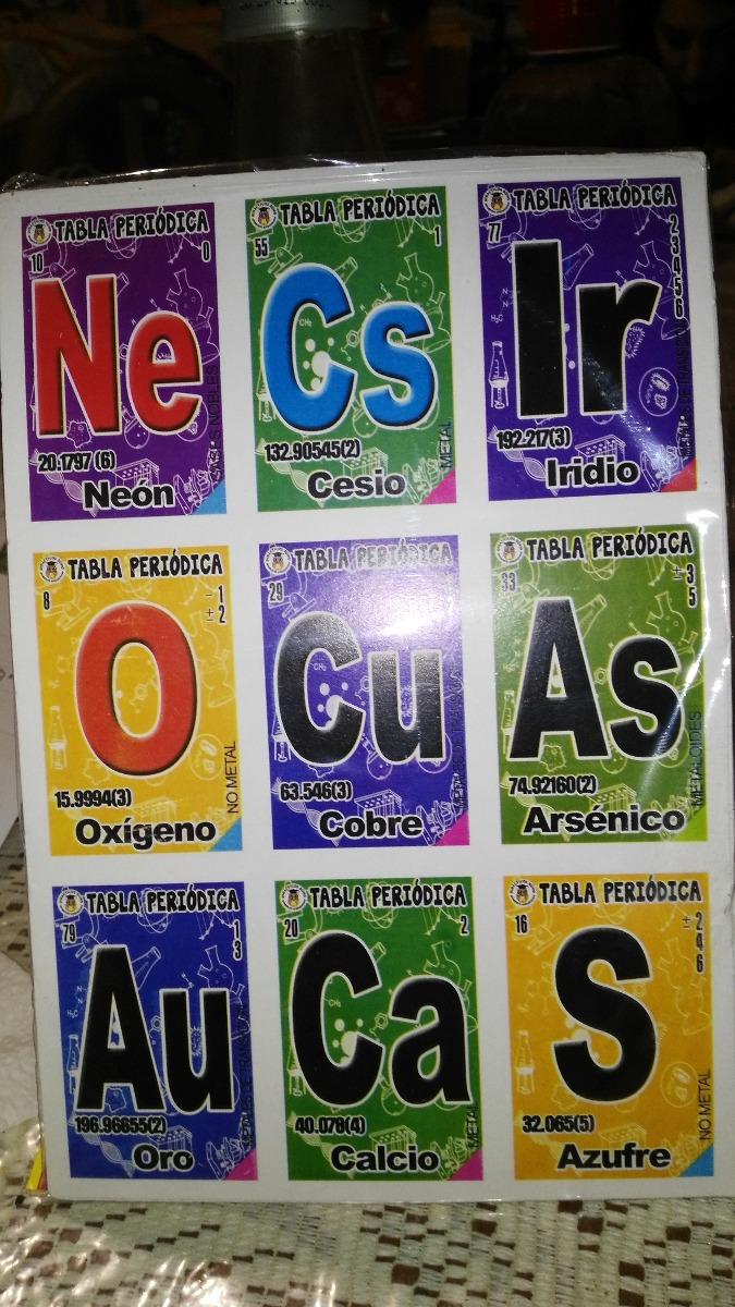 Gcg juego de loteria didctico tabla peridica qumica 6000 en didctico tabla peridica qumica cargando zoom urtaz Images