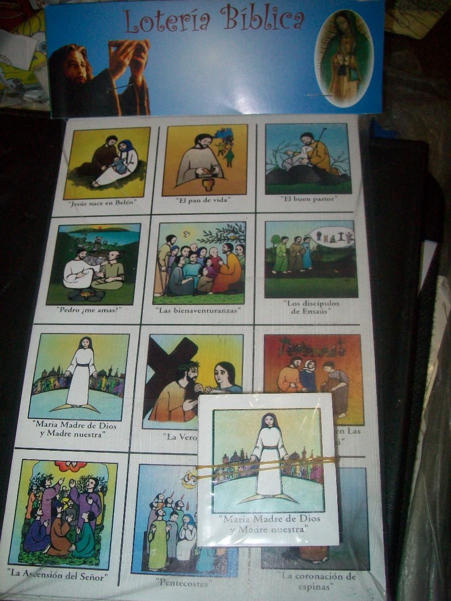 Gcg Juego Didactico Loteria Biblica De Carton Biblia Pasajes