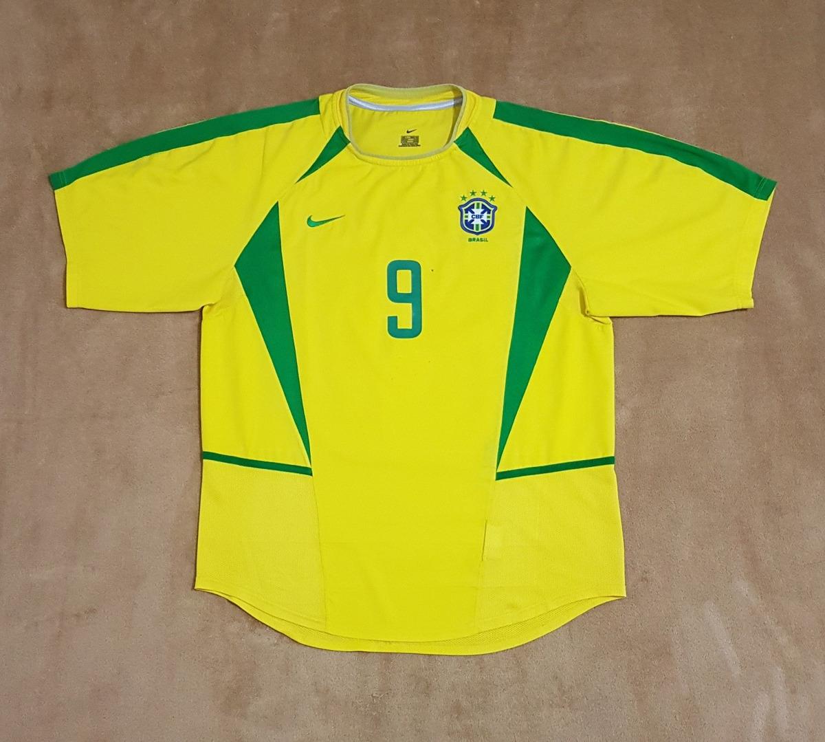 3324db3696aaa Gcr37 Camisa Seleção Brasileira Copa 2002  9 Ronaldo G 74x56 - R ...