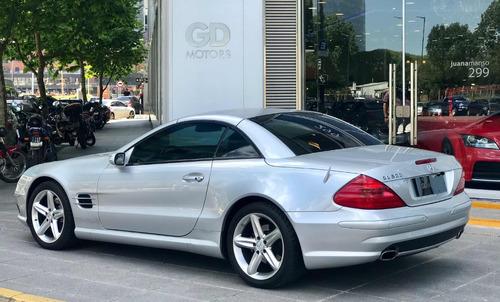 gd motors mercedes benz sl 500  2004 gris plata 21162km