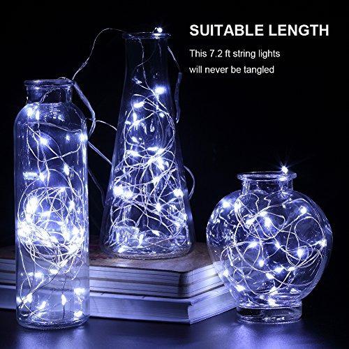 gdealer 6 pack fairy string luces de 7.2 pies 20led luces de
