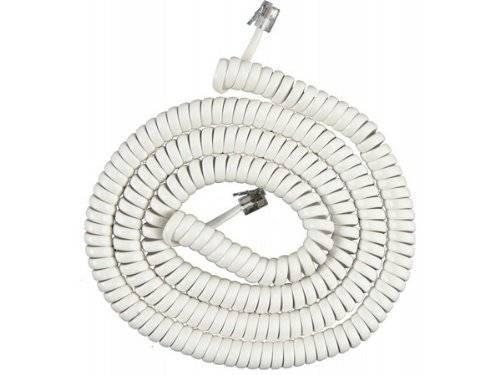 ge 76122 teléfono cuerda de la bobina (25 pies blancos)