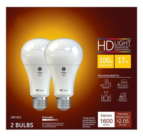 ge lighting actualizar hd led de 17 vatios (reemplazo de 100