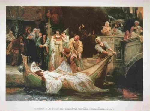 ge. robertson - the lady of shalott - 24 x 30 cm