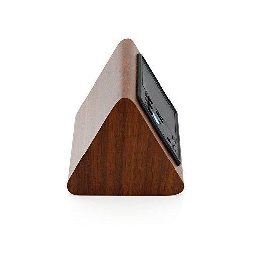 gearonic tm triángulo moderno de madera led alarma de madera