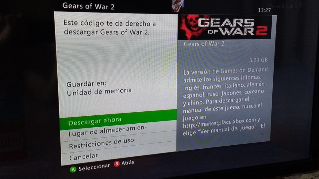 Gears Of War 2 Digital Libre Para Xbox One Y Xbox 360