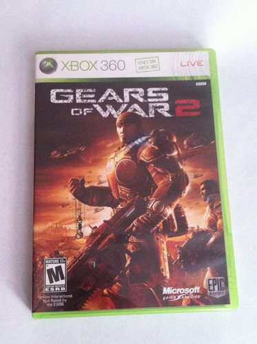 gears of war 2 xbox 360 original excellente estado completo