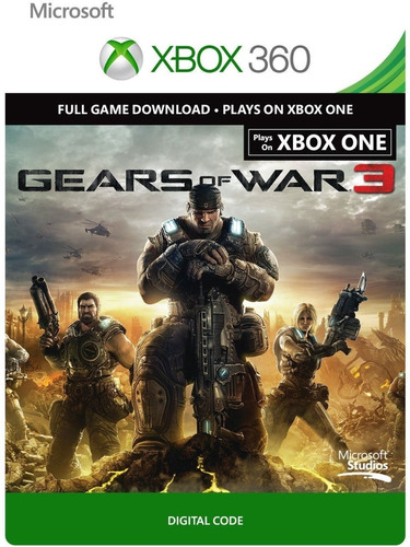 gears of war 3 código digital xbox one/360 cta. rut