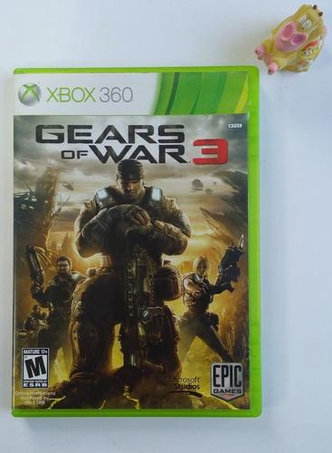 gears of war 3 xbox 360 + envío gratis * mundo abierto vg *