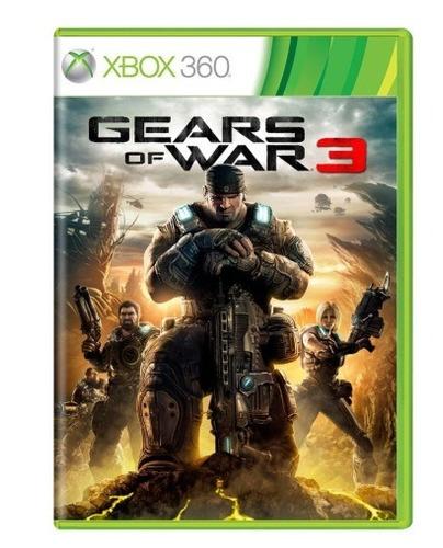 gears of war 3 - xbox 360 - semi-novo