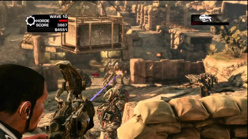 gears of war 3 - xbox 360 - semi-novo