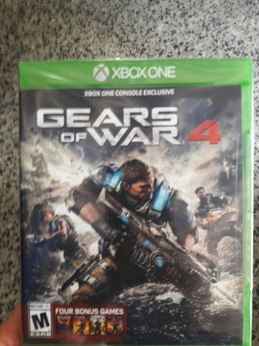 gears of war 4 fisico nuevo sellado + 4 bonus games rxg