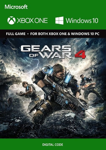 gears of war 4 xbox one codigo digital