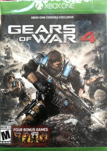 gears of war 4 xbox one + gears 1,2,3 judgement!!!!