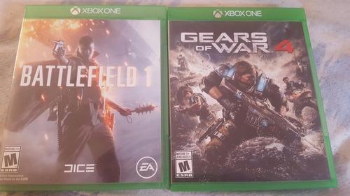 gears of war 4 y battlefield 1 xbox one nuevos