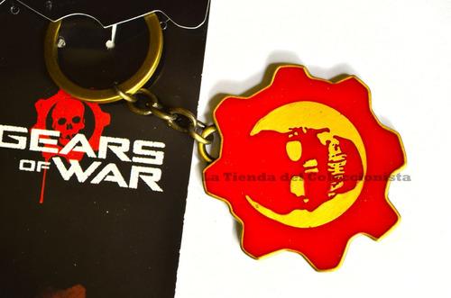 gears of war llavero en acero de coleccion