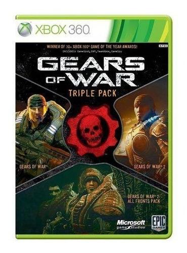 gears of war: triple pack - xbox 360 mídia física