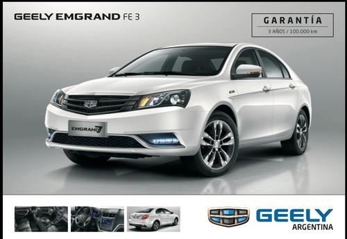 geely emgrand 7 sedan a/t plan de ahorro cuota pura $5000