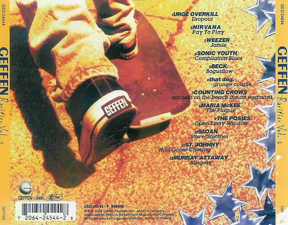 Geffen Rarities Nirvana Beck Sonic Youth Cd Mexico 1994 Rar - $ 94 00