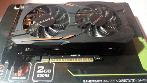 geforce gtx 1050 2gb, edition oc, doble cooler, gamer hdmi