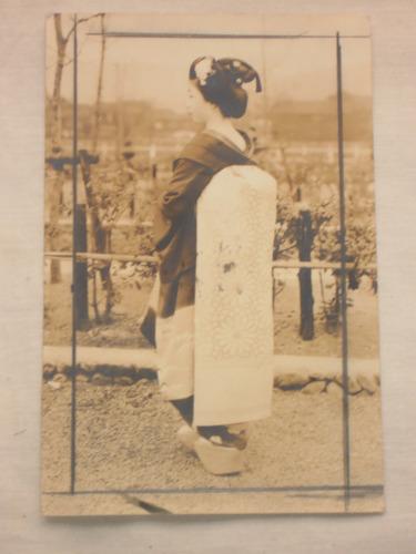 geisha flor de cerezo antigua foto año 1958