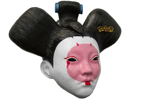 geisha ghost in the shell mascara latex halloween disfraz