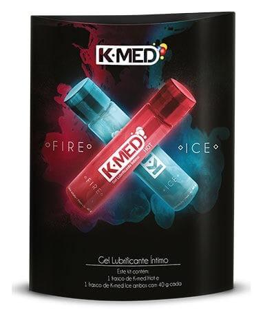 gel 12un kmedhot ice 80g mentolado lubrificante sexual anal