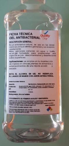 gel anti bacterial por litro