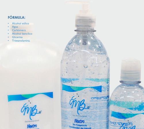 gel antibacterial 1 litro sin fragancia con dispensador